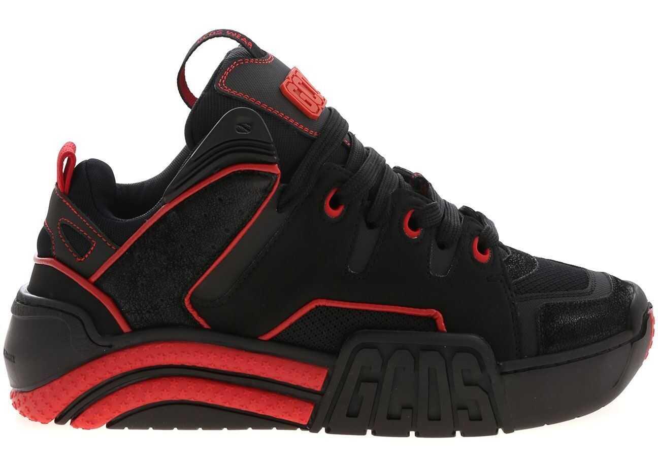 GCDS Skate Big G Sneakers In Black With Logo Black