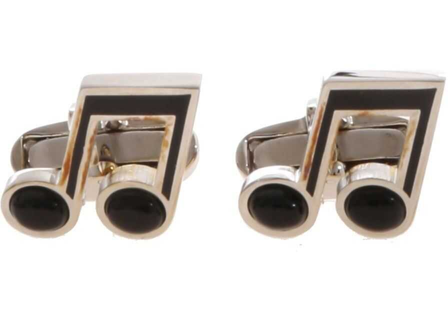 Paul Smith Note Cufflinks In Silver And Black Silver