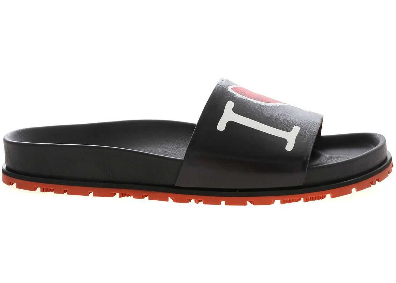 Vivienne Westwood I Love Print Slides In Black Black