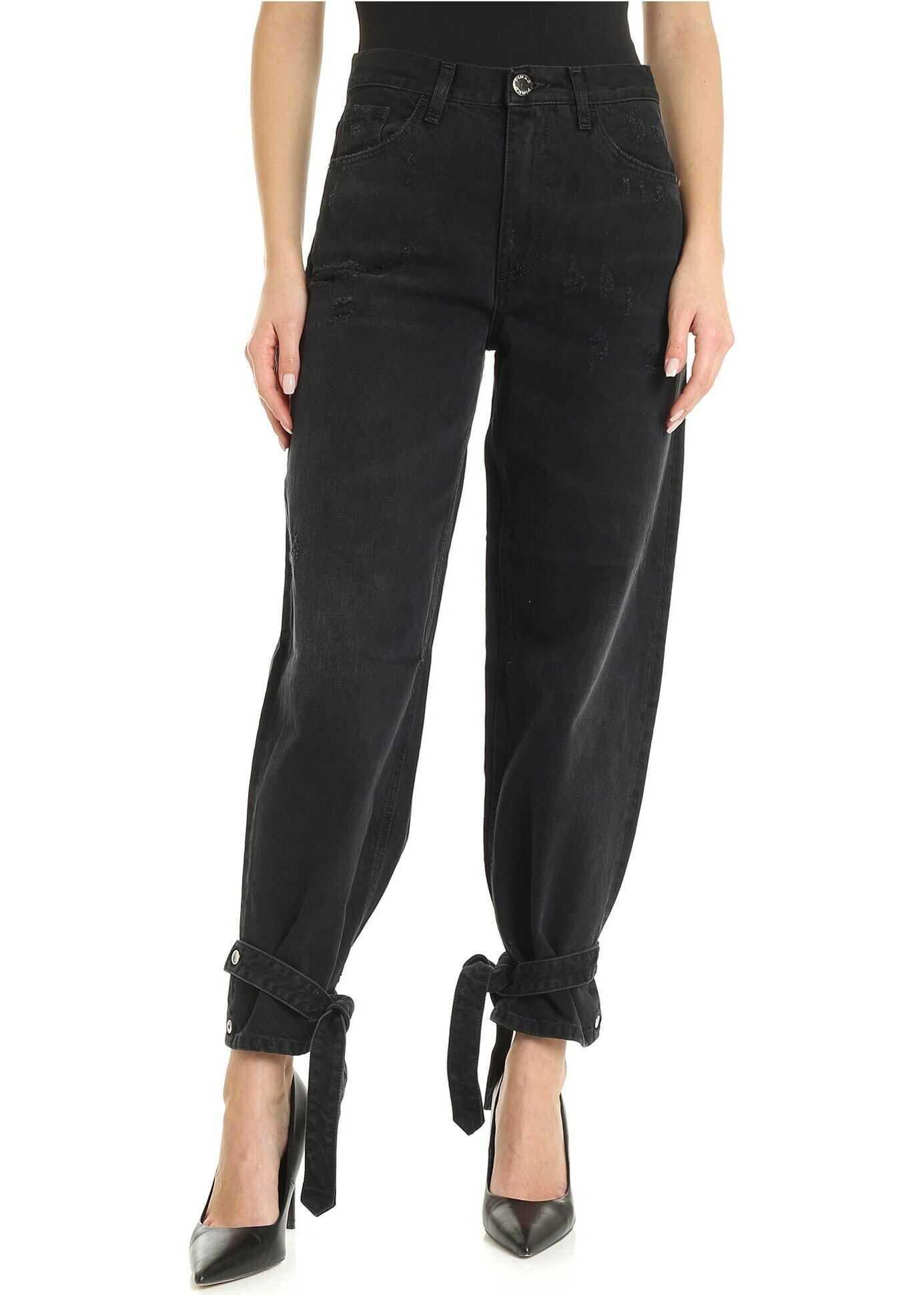 Pinko Maddie 6 Jeans In Black Black