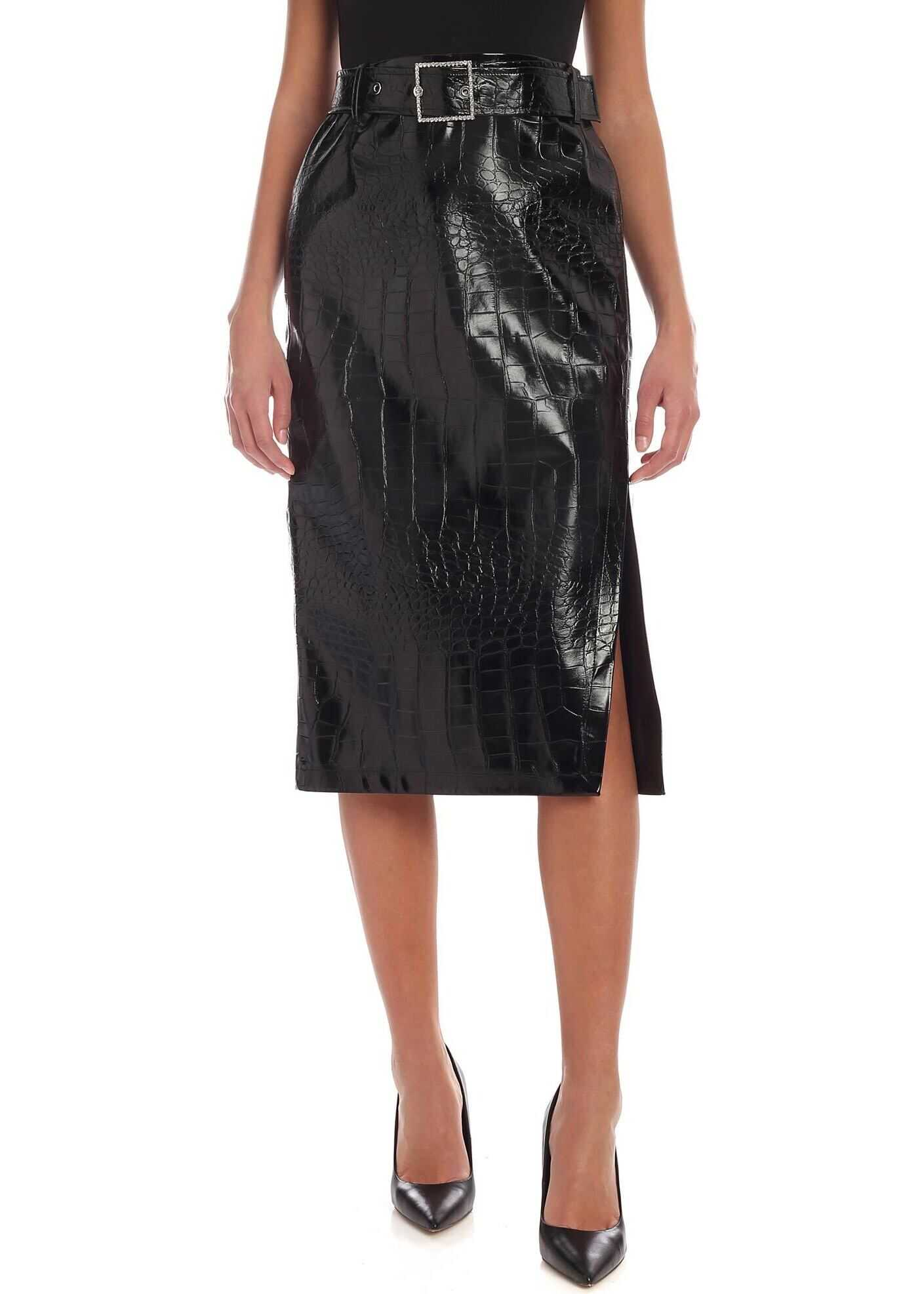 Pinko Oronero Skirt In Black Black