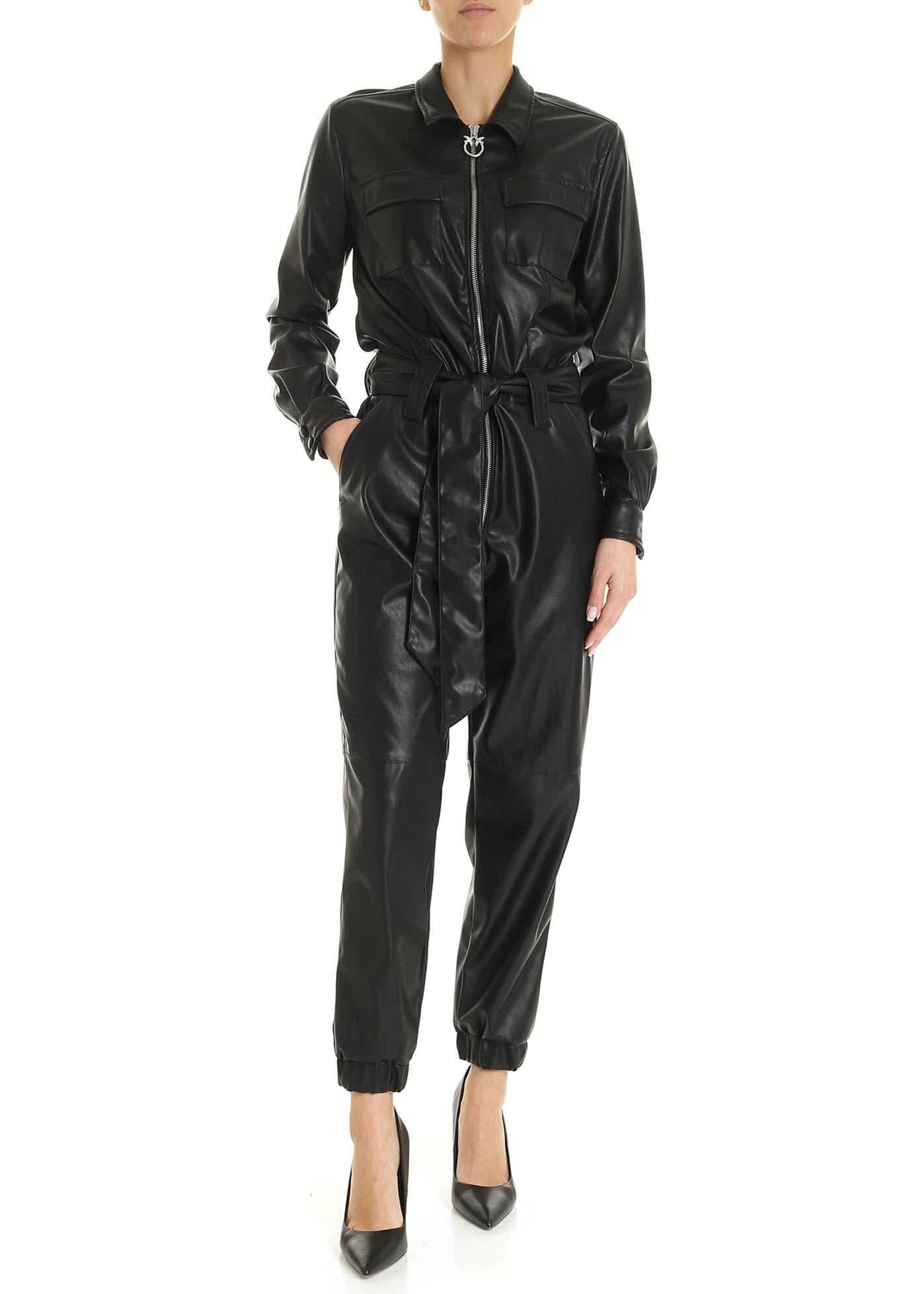 Pinko Bellini Jumpsuit In Black Black