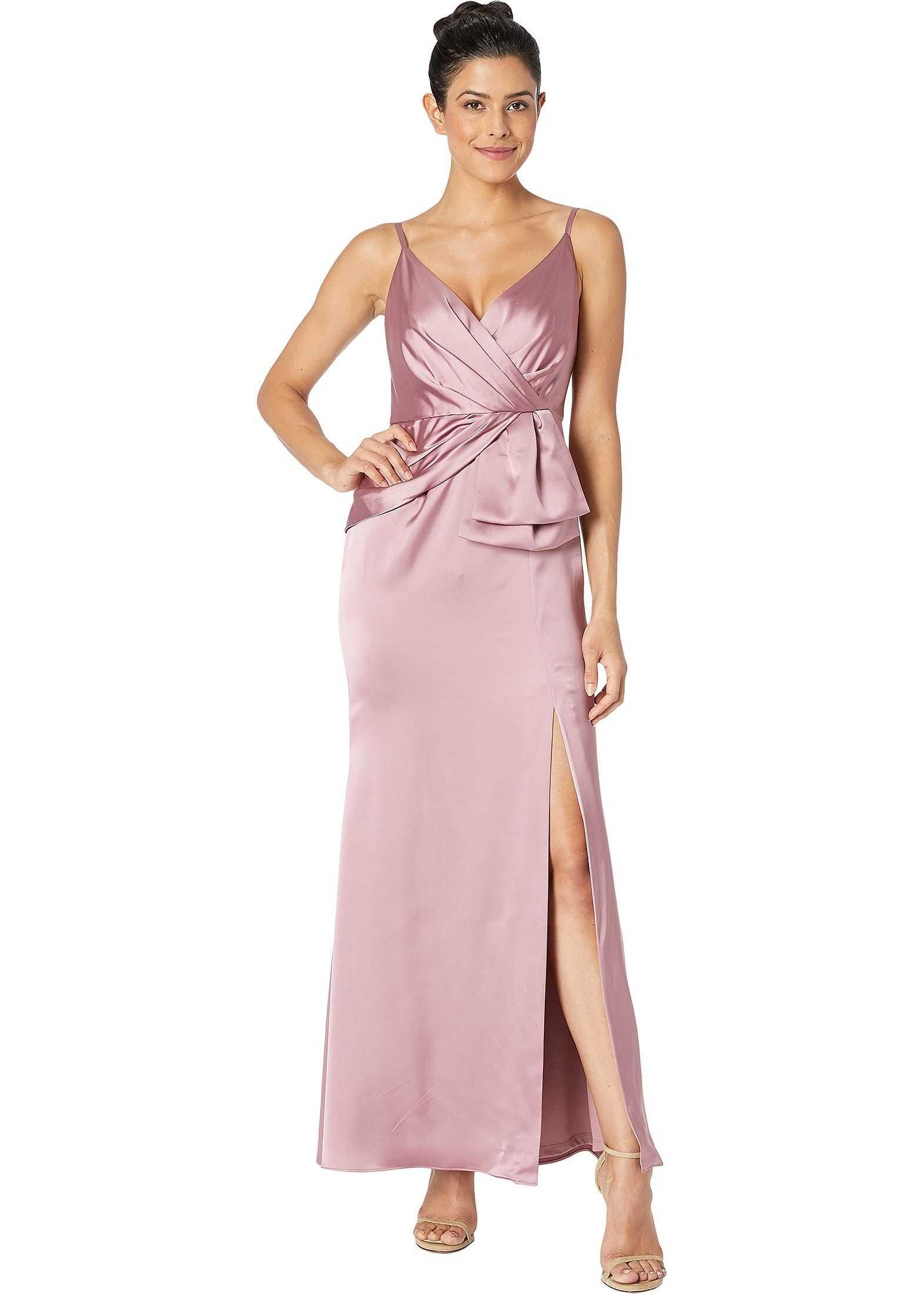 Adrianna Papell Petite Light Satin Dress Rose