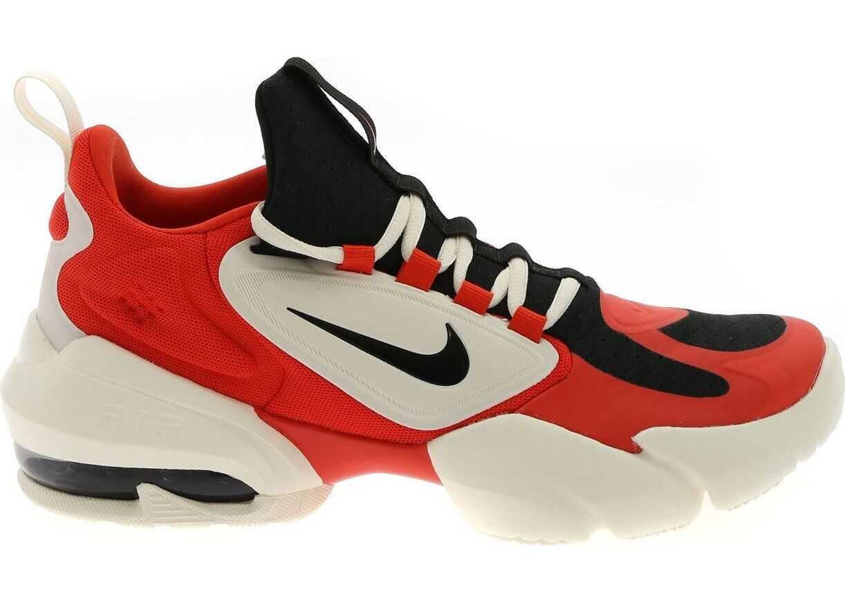 Nike Air Max Alpha Savage Sneakers In White Red And Black Red