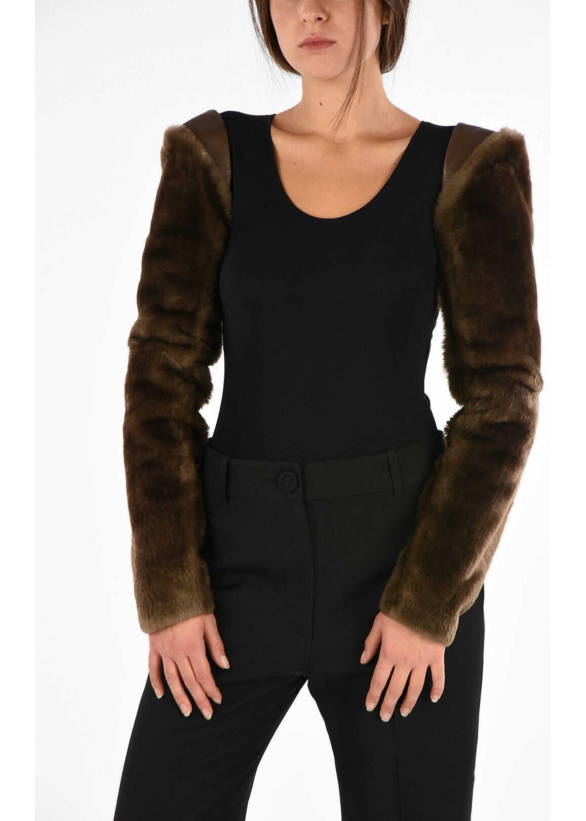 Maison Margiela MM1 Real Fur Sleeve BROWN