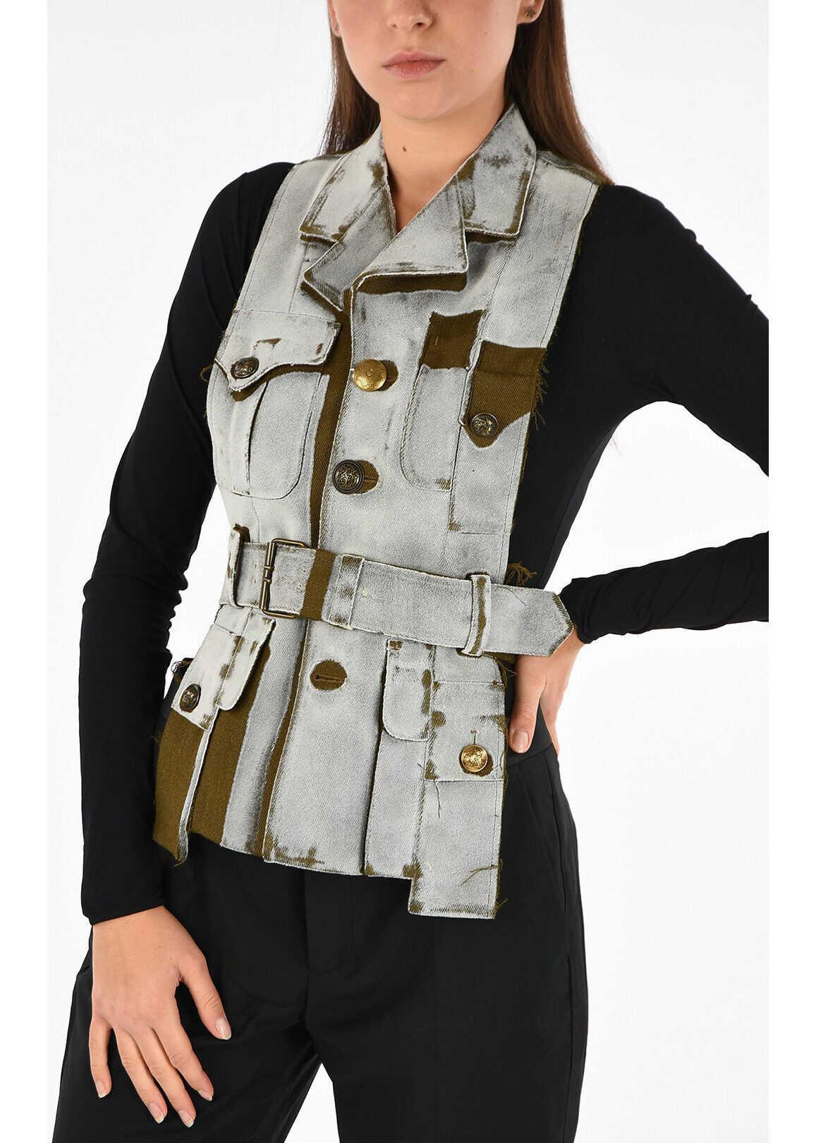 Maison Margiela MM0 Wool Sleeveless Vest GRAY