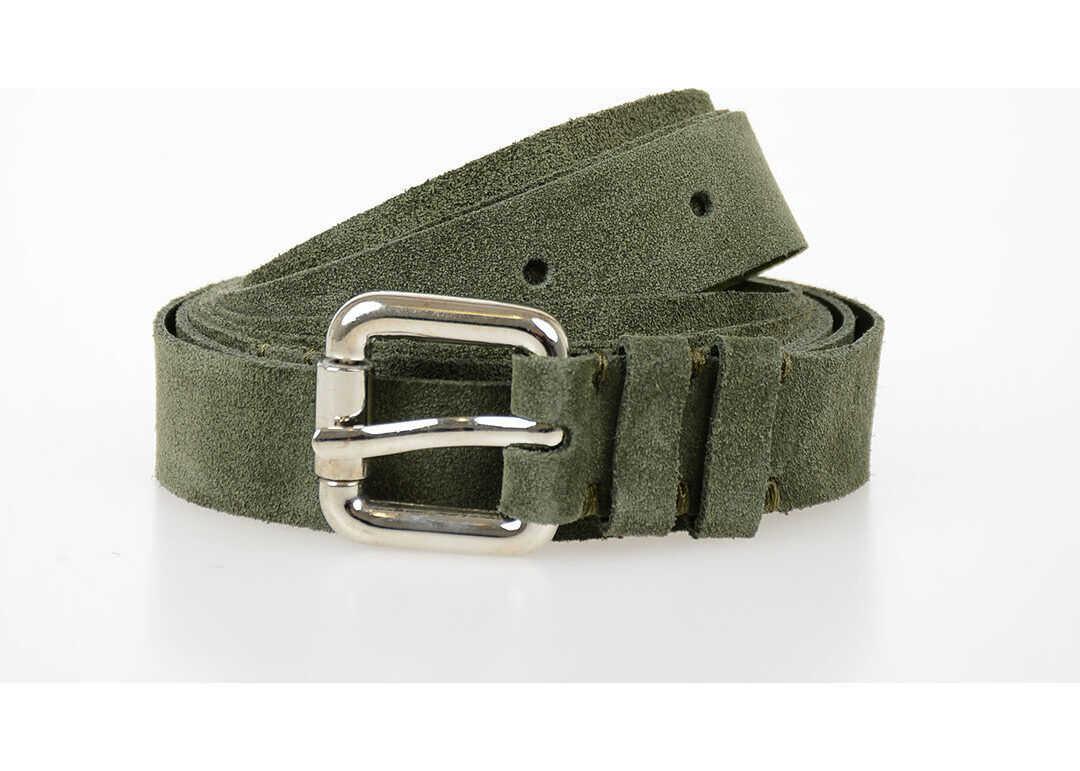 Maison Margiela MM6 20mm Leather Belt GREEN
