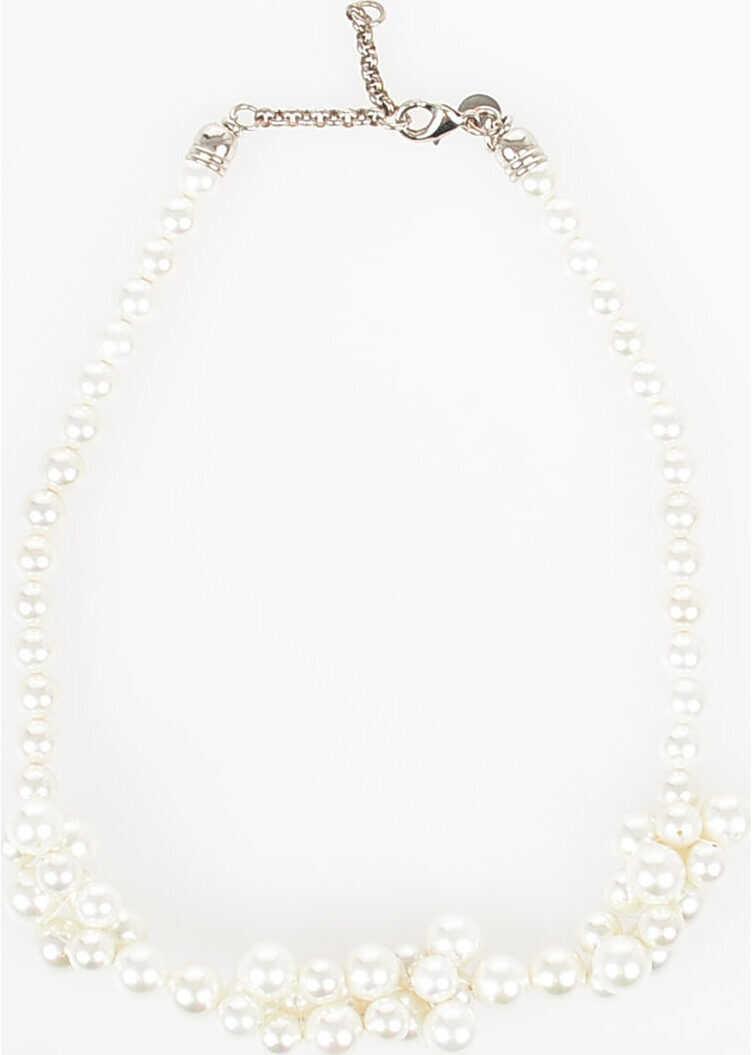 Maison Margiela MM6 Faux Pearl Necklace WHITE