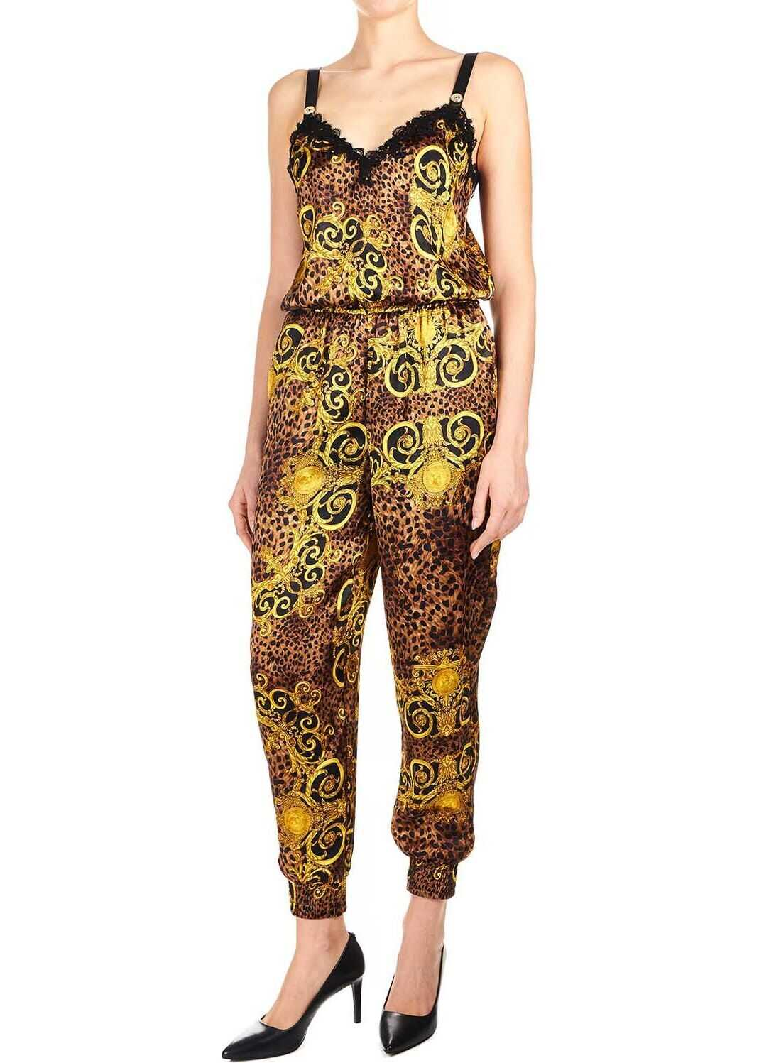 Versace Jeans Polyester Jumpsuit GOLD