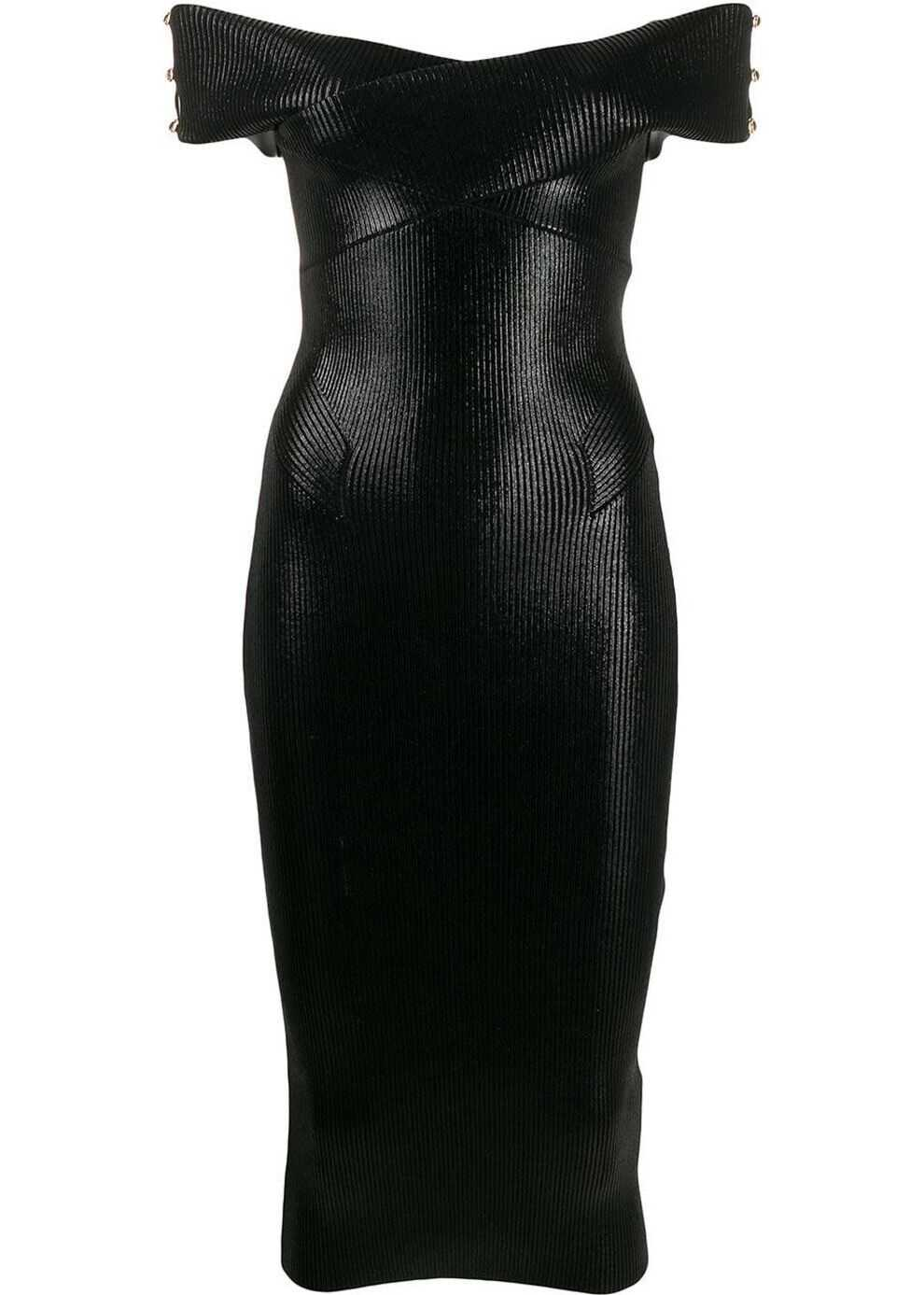 Versace Jeans Viscose Dress BLACK