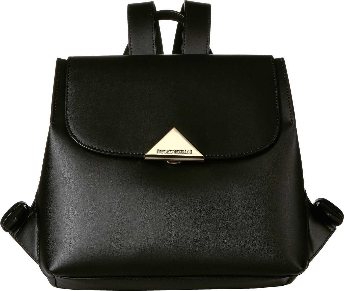 Emporio Armani Leather Backpack Black