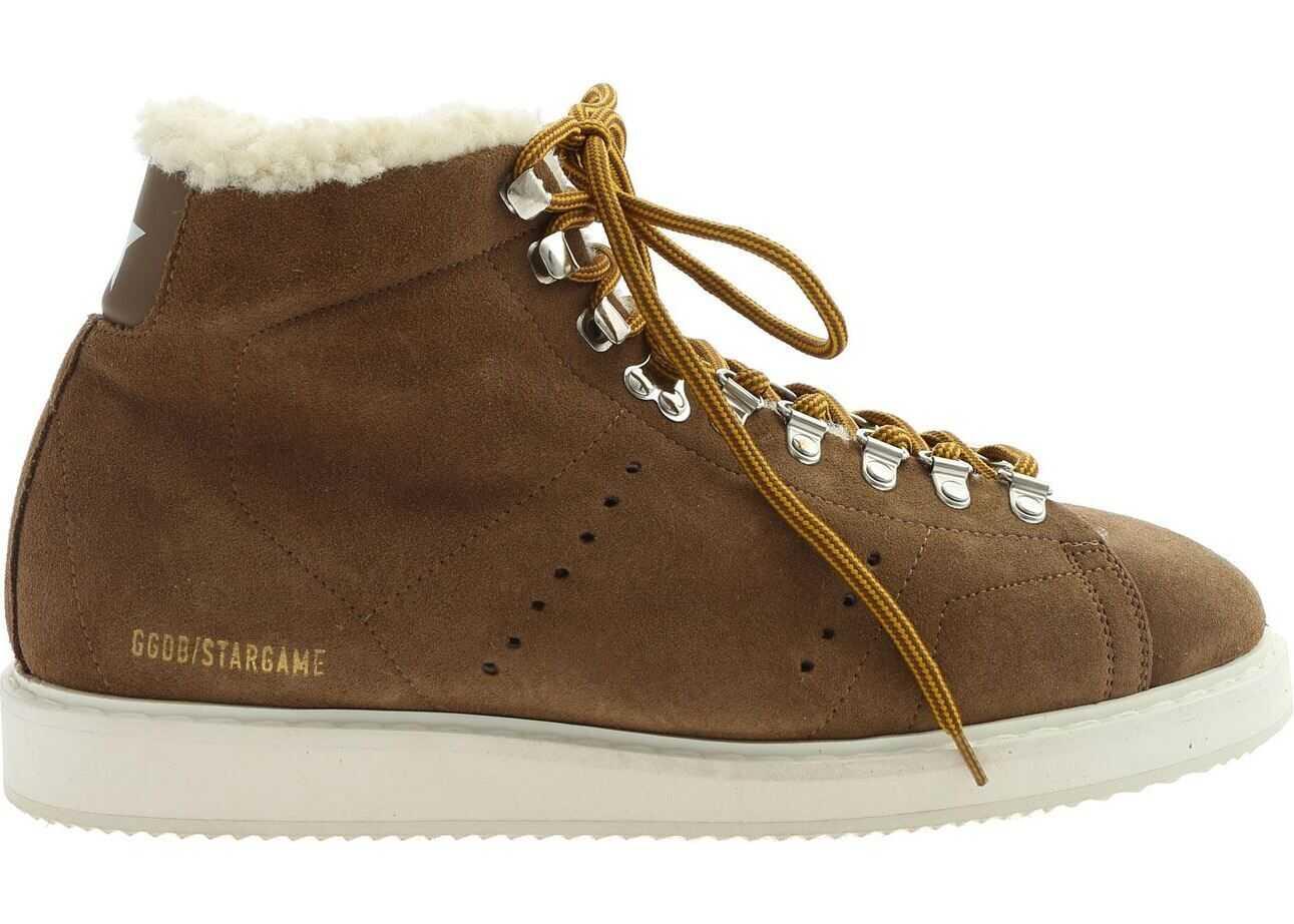 Golden Goose Stargame Sneakers In Brown Brown
