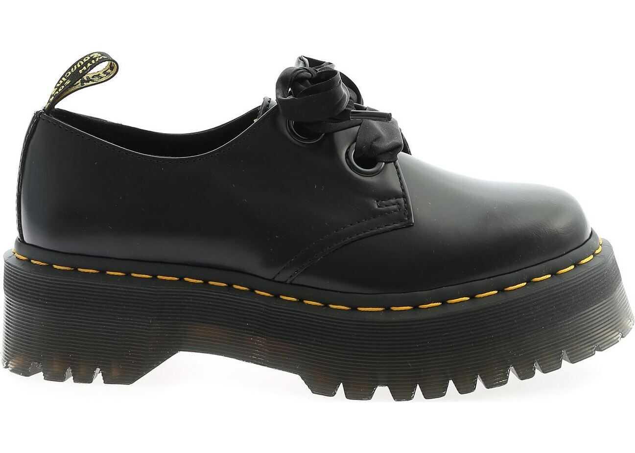Dr. Martens Holly Derby Shoes In Black Black