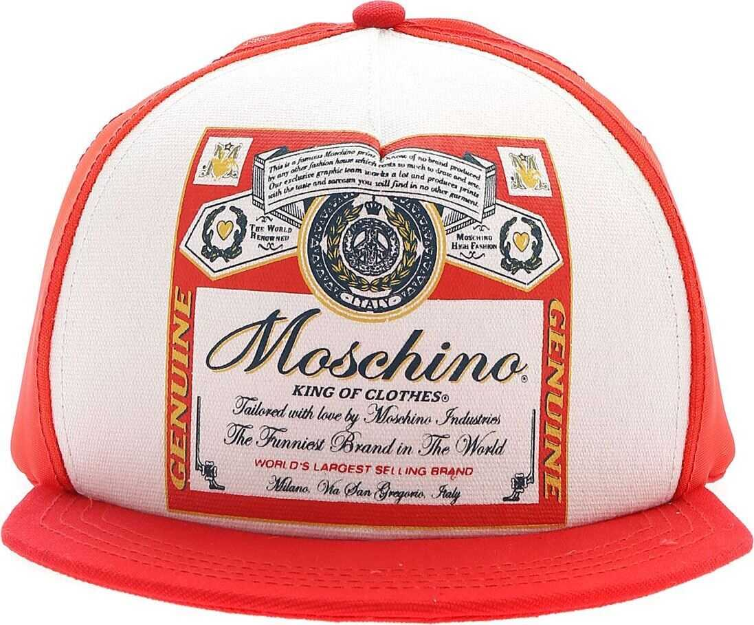 Moschino Moschino X Budweiser Hat In Red Red