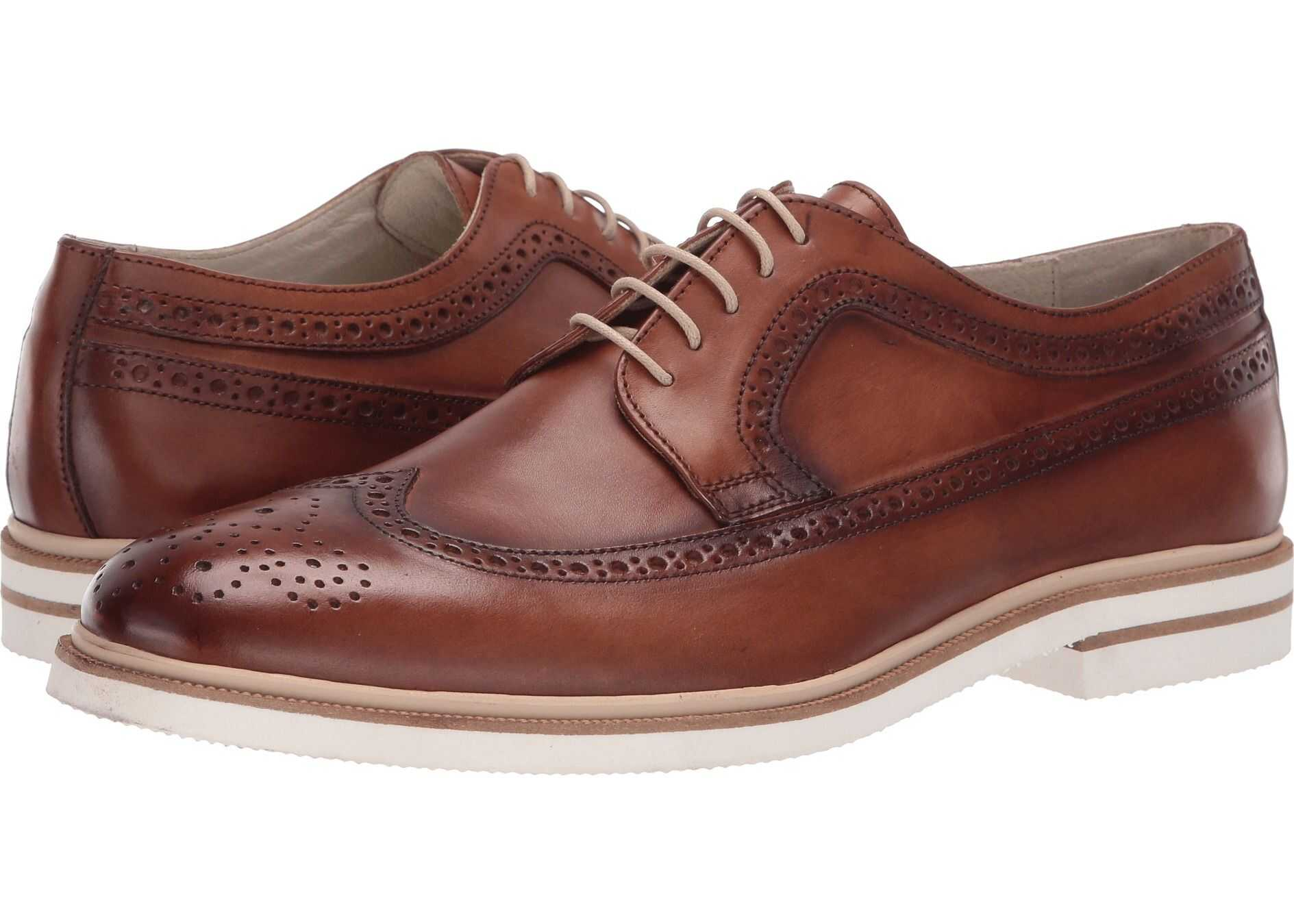 Kenneth Cole New York Vertical Lace-Up Cognac