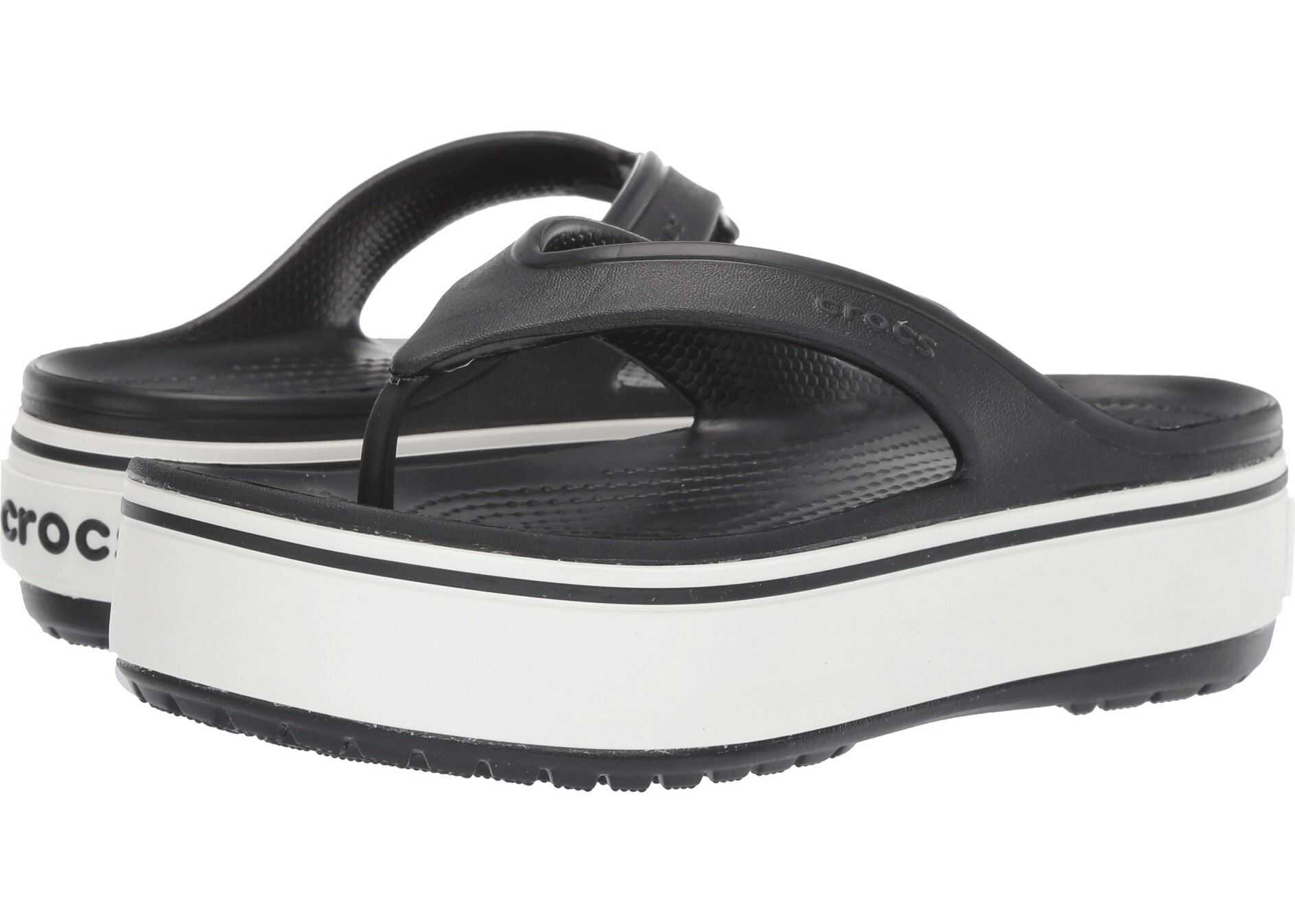 Crocs Crocband Platform Flip Black/White