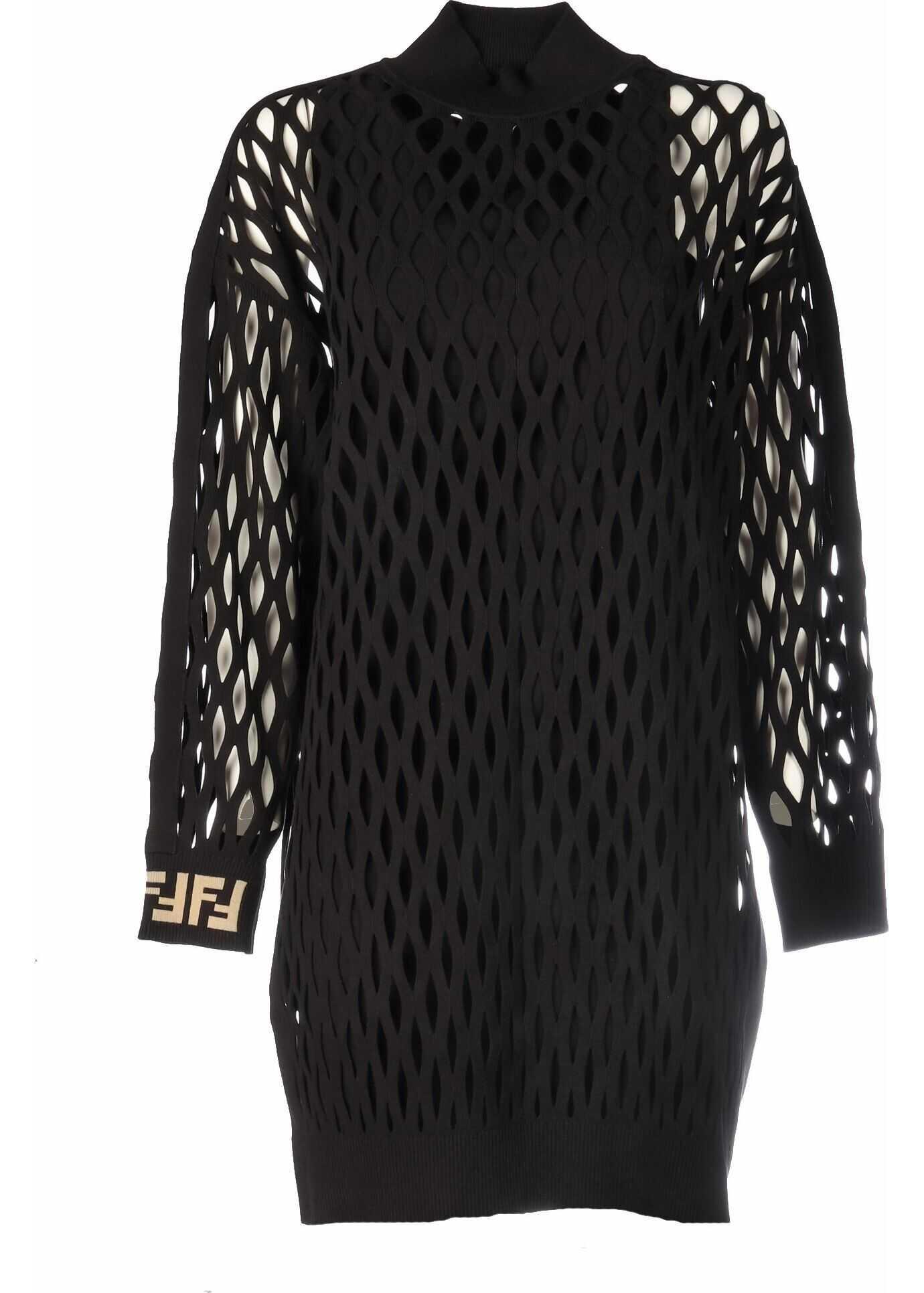 Fendi Viscose Dress BLACK