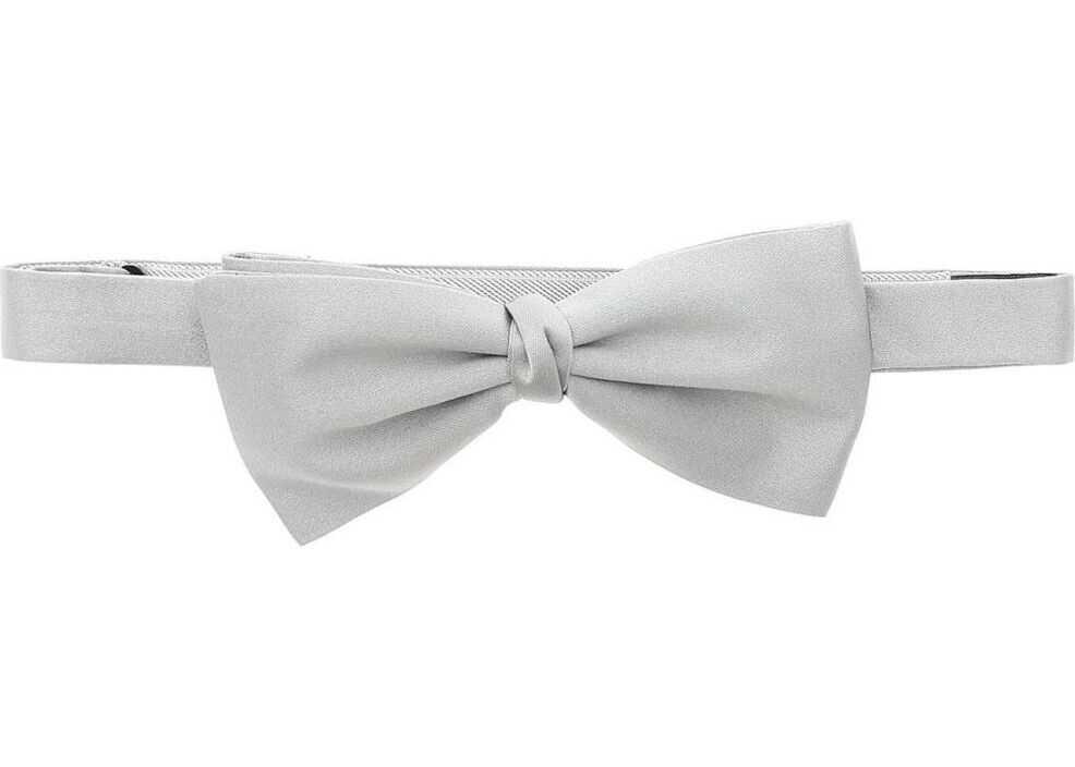 Z Zegna Silk Bow Tie GREY