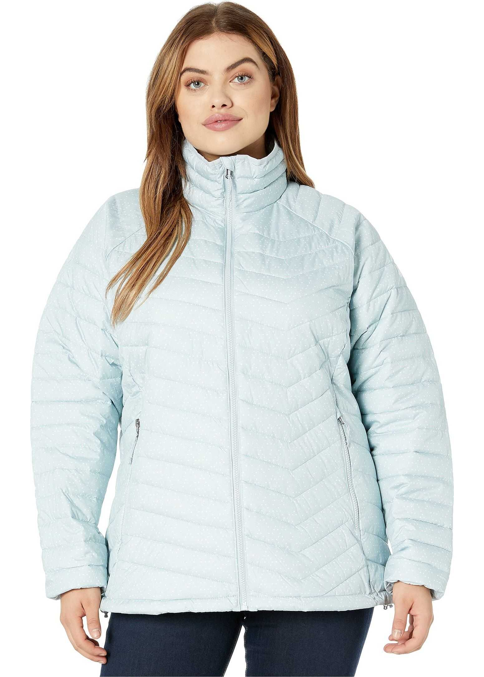 Columbia Plus Size Powder Lite™ Jacket Cirrus Grey Sparkler Print