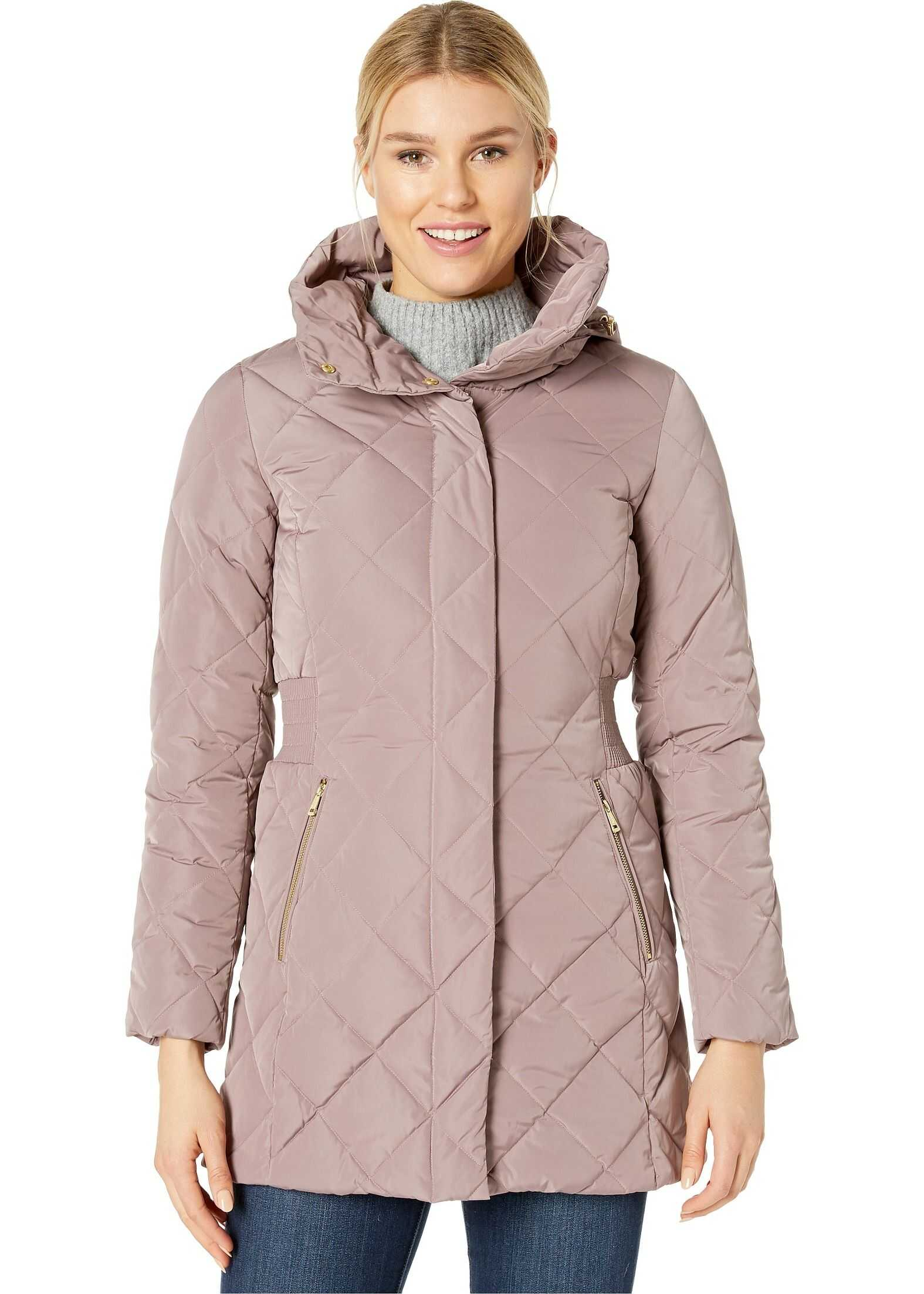 Cole Haan Diamond Quilted Down Jacket Mauve