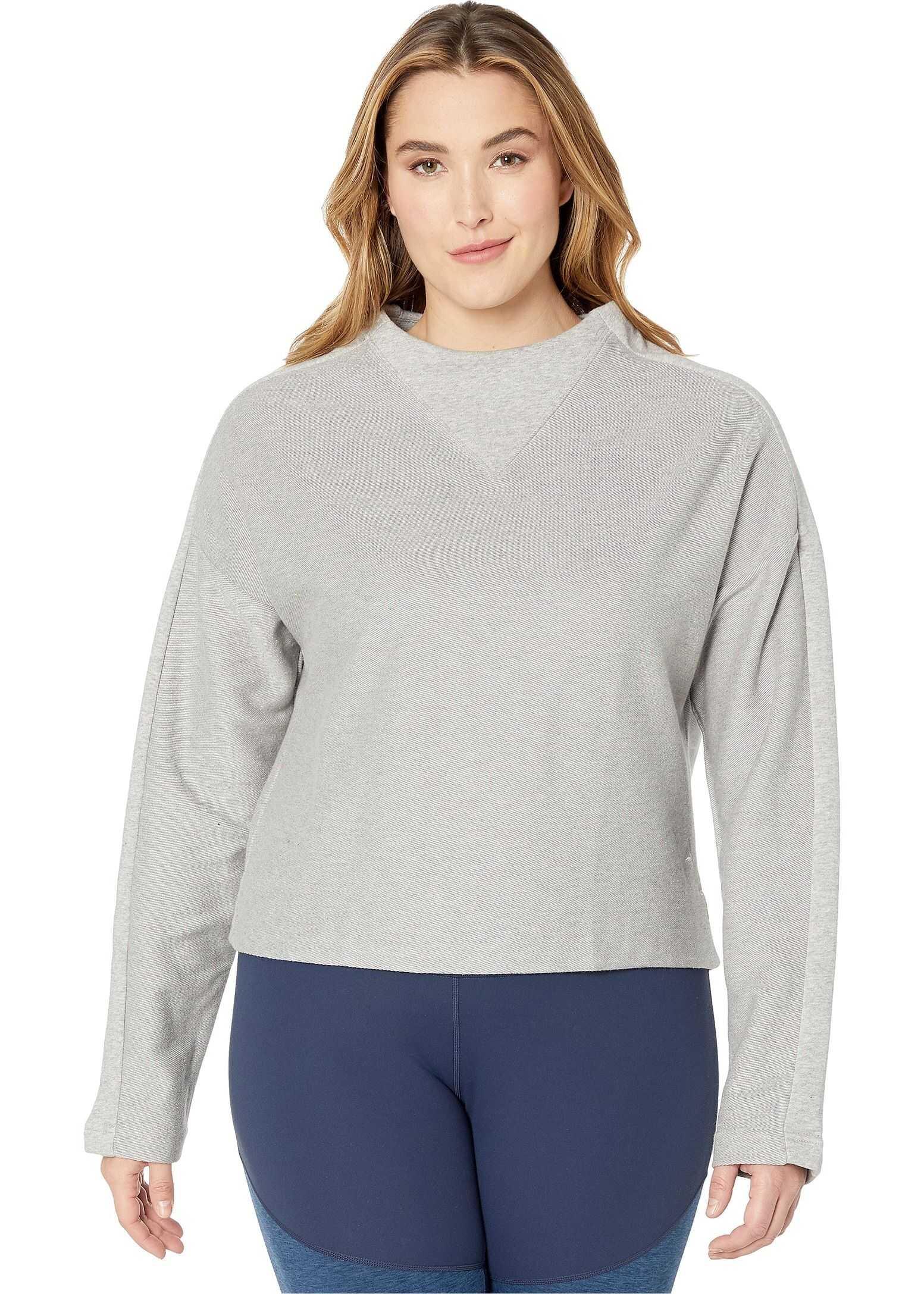 Reebok Training Essentials Twill Cowl Neck Medium Grey Heather