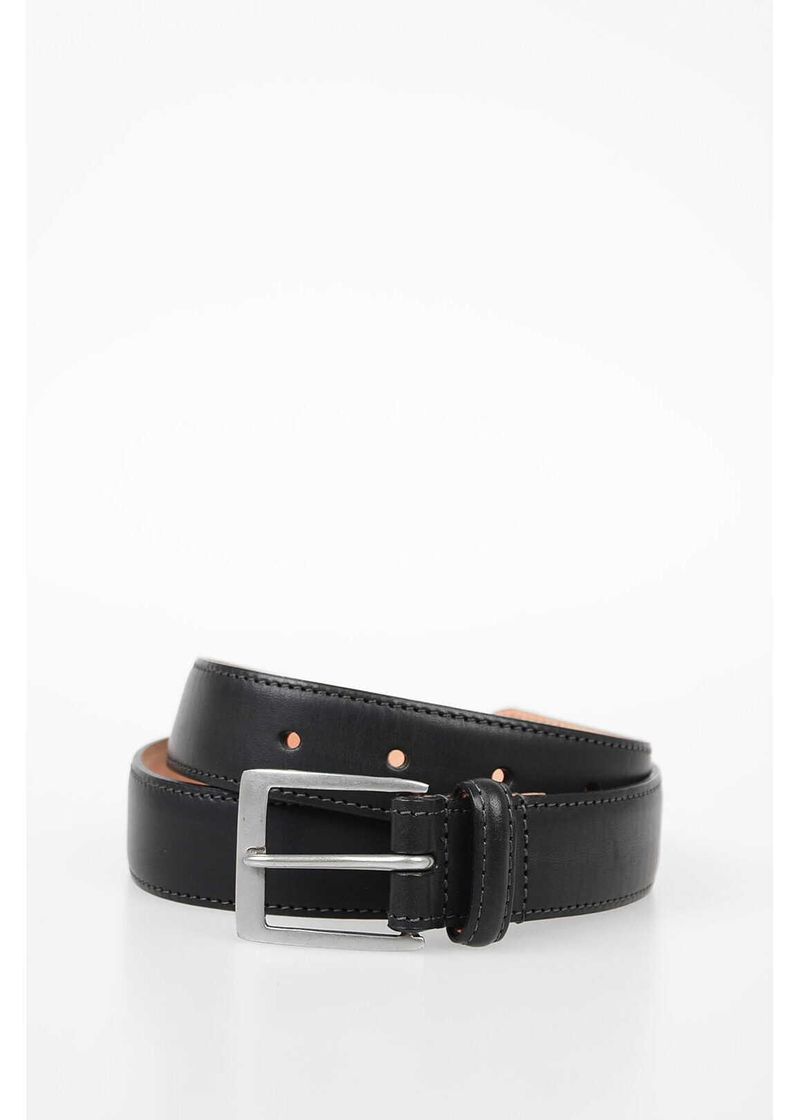 Paul Smith 30mm Leather Belt BLACK