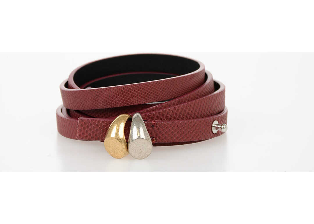 Maison Margiela MM11 10mm Leather Slim Belt BURGUNDY