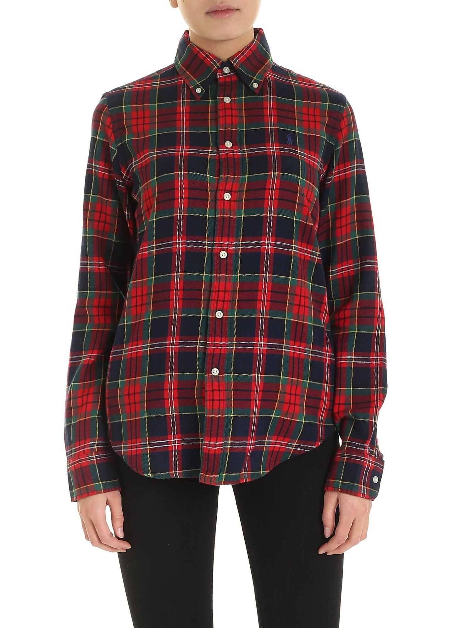 Tartan Shirt With Logo Embroidery thumbnail
