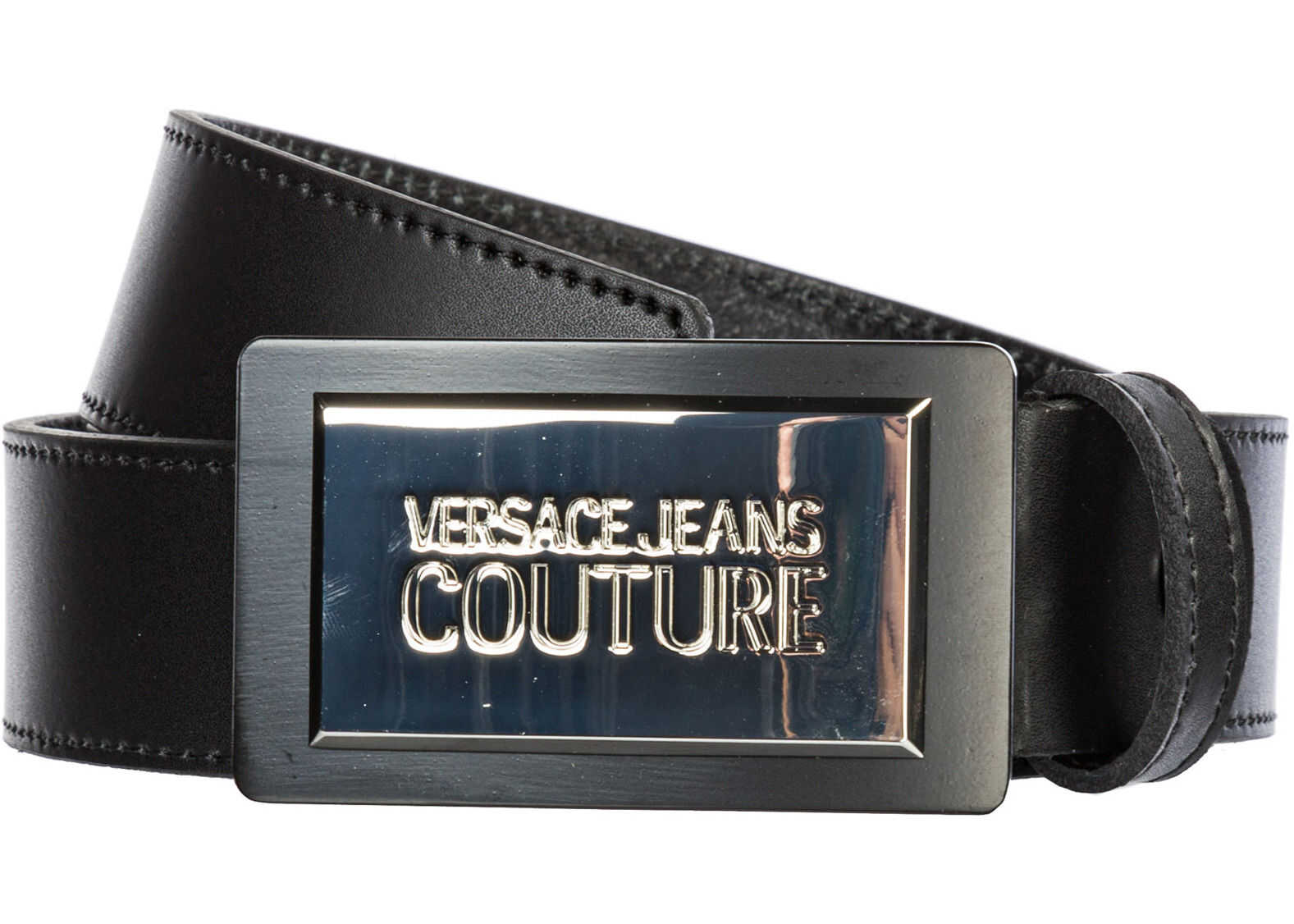 Versace Jeans Couture Leather Belt Black