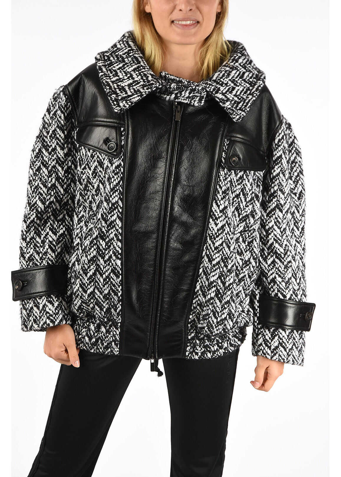 Leather Details Bomber thumbnail