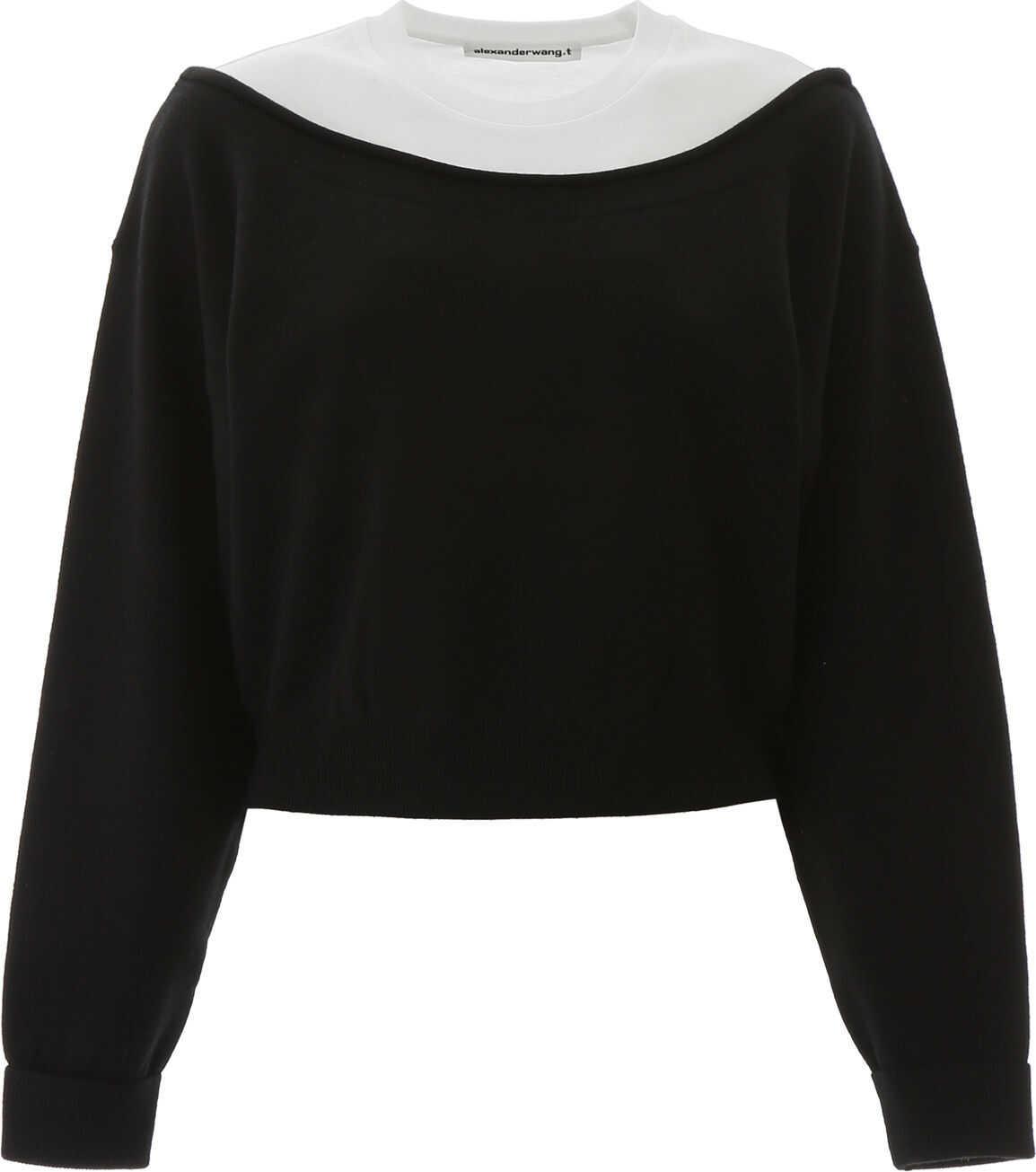 Alexander Wang Hybrid Knit BLACK WHITE