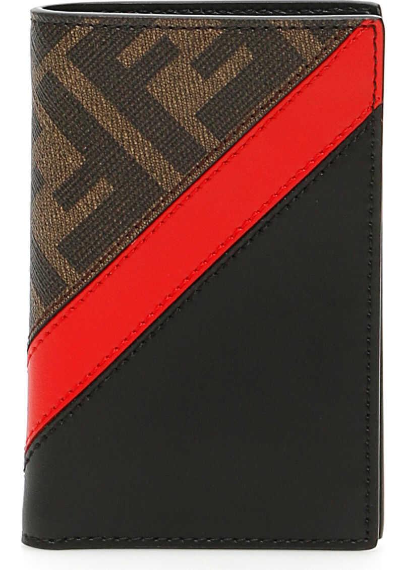 Fendi Ff Red Stripe Wallet TAB ROSSO NR P