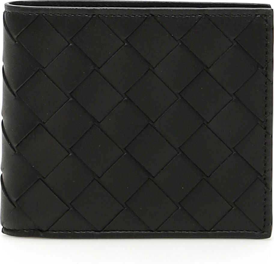Bottega Veneta Bi-Fold Intrecciato 15 Wallet NERO NERO NERO OPACO