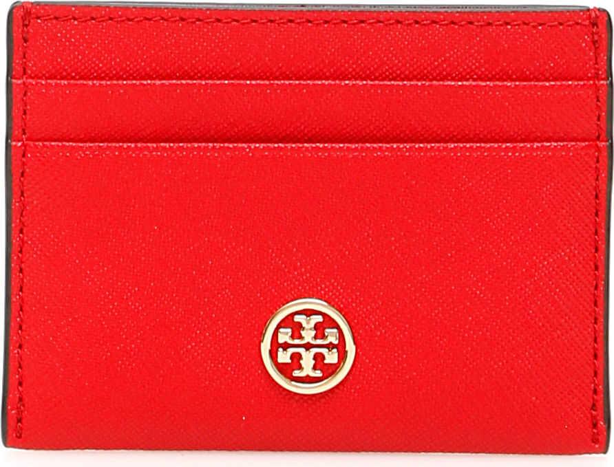Tory Burch Robinson Cardholder BRILLIANT RED