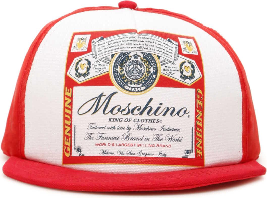 Moschino Budweiser Baseball Cap FANTASIA ROSSO 112