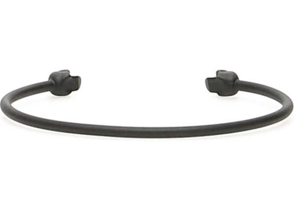 Alexander McQueen Double Skull Bracelet MATT BLACK