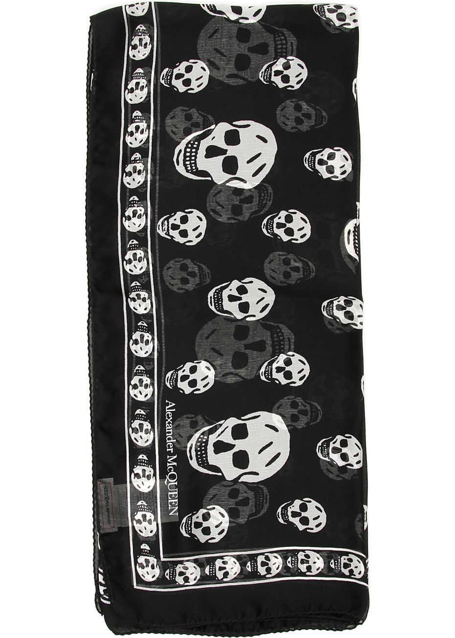 Skull Silk Scarf thumbnail