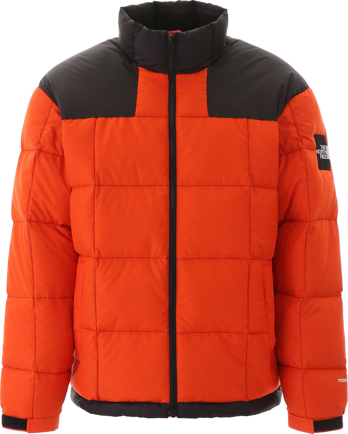 The North Face Lhotse Puffer Jacket ORANGE BLACK