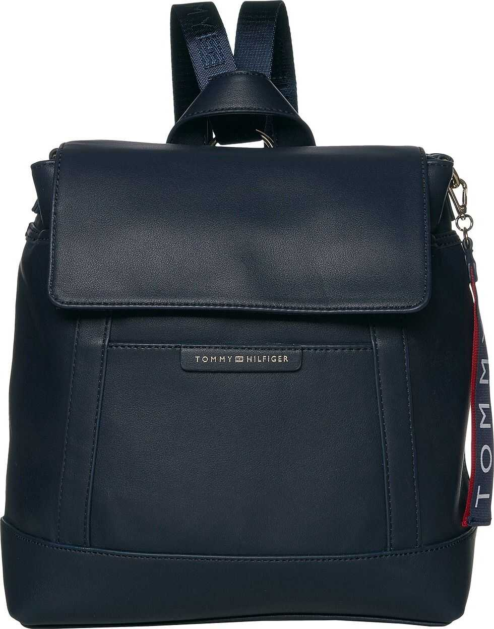 Tommy Hilfiger Lottie Smooth PVC Backpack Tommy Navy