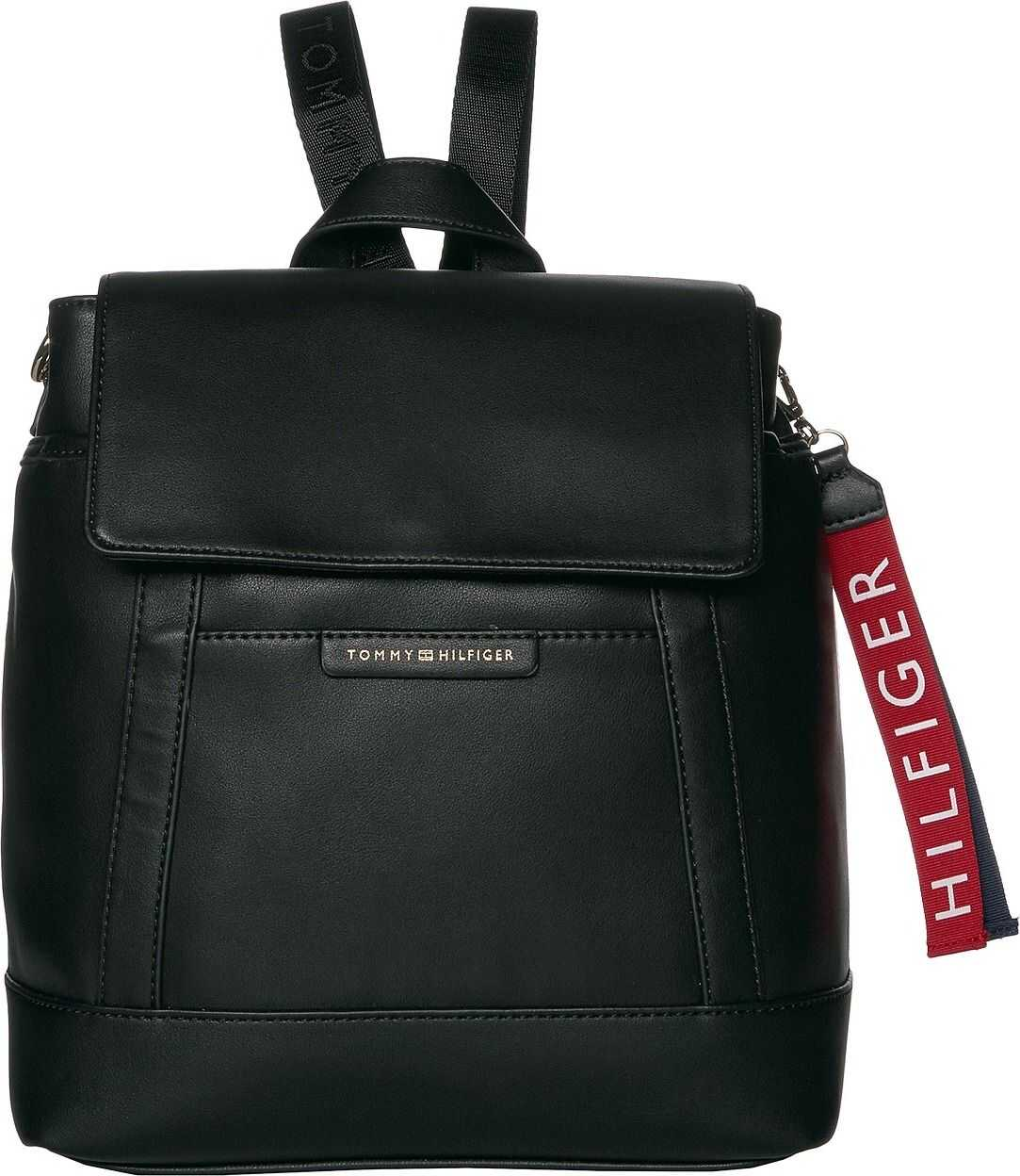 Tommy Hilfiger Lottie Smooth PVC Backpack Black