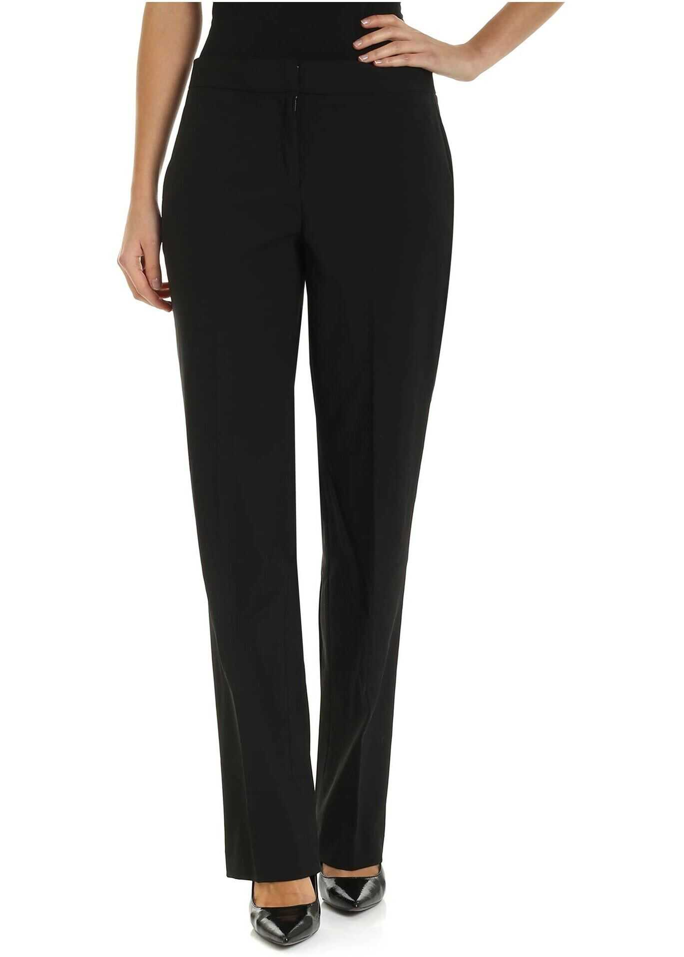 Michael Kors Stretch Wool Pants In Black Black