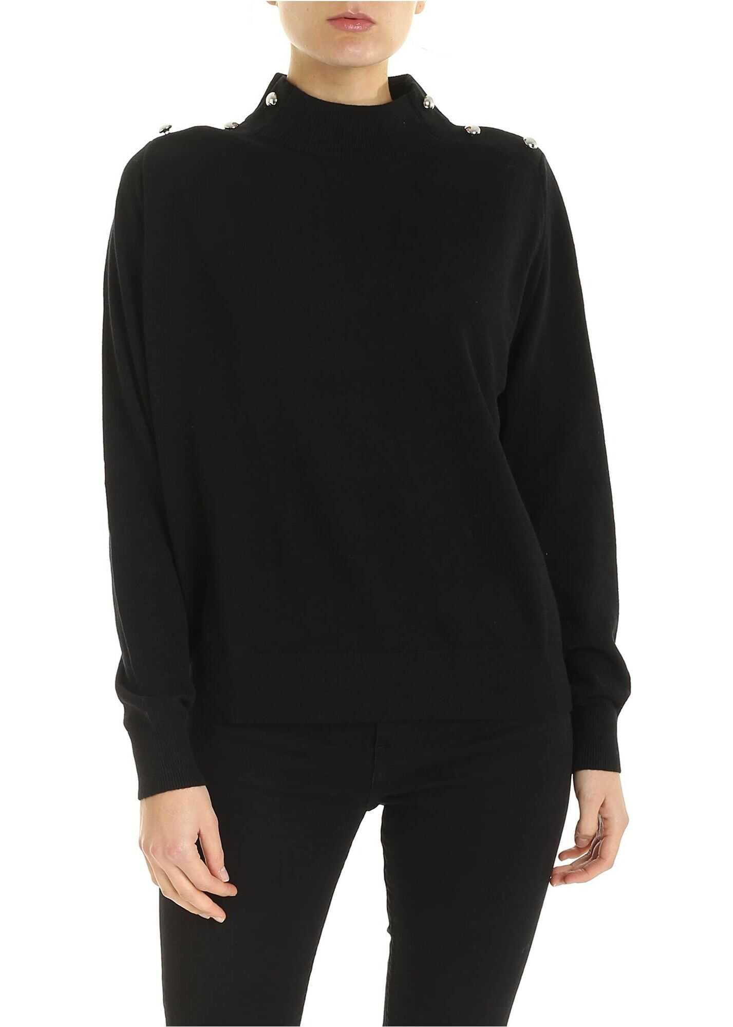 Michael Kors Turtleneck Pullover In Black Black