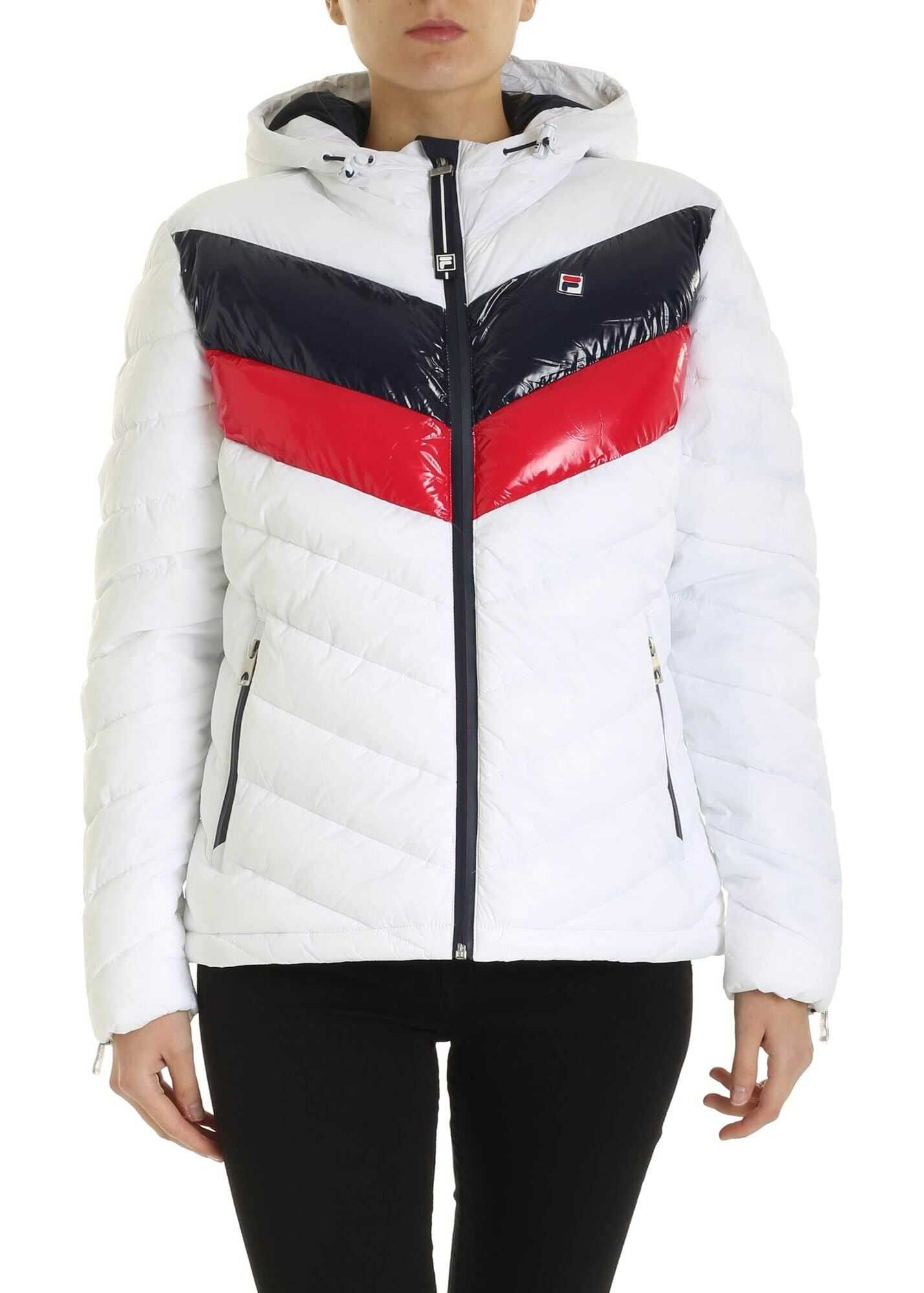 Fila Sassy Down Jacket In White White