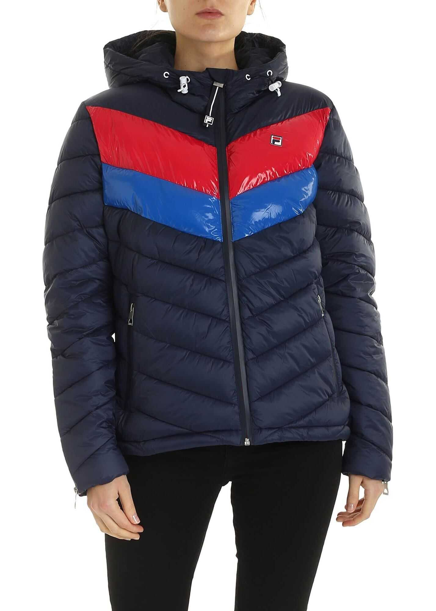 Fila Sassy Down Jacket In Blue Blue