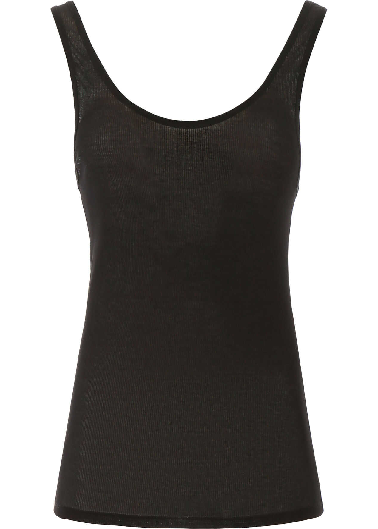 Saint Laurent Ribbed Tank Top NOIR