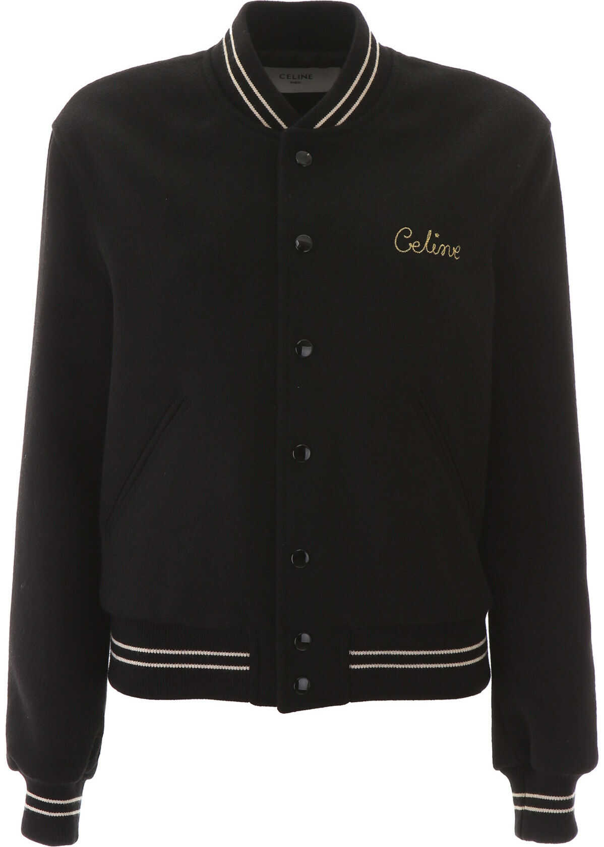 Céline Logo Teddy Jacket BLACK