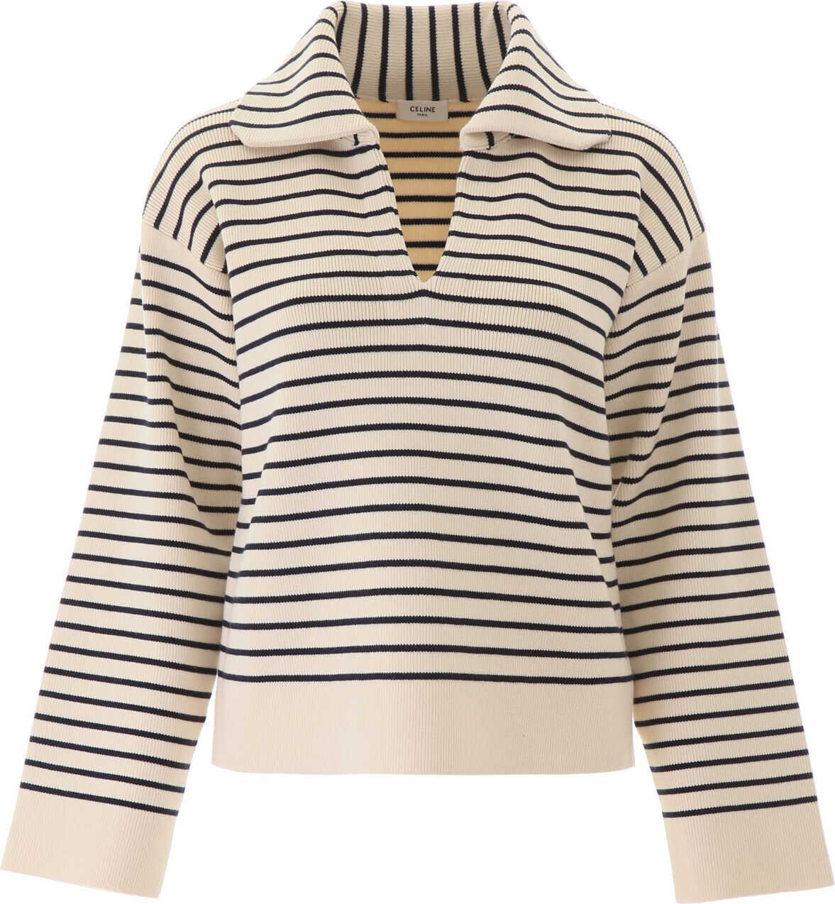 Céline Marinier Pull With V Neck CREAM NAVY