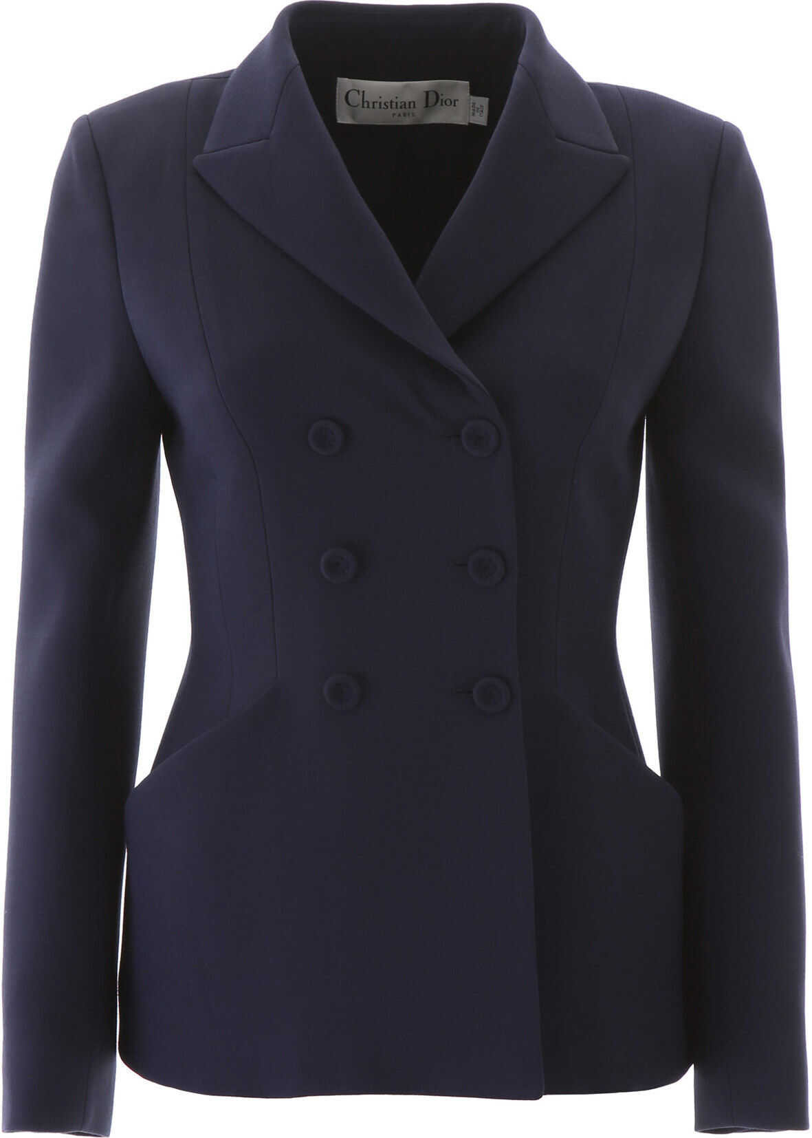 Dior Double-Breasted Blazer BLEU