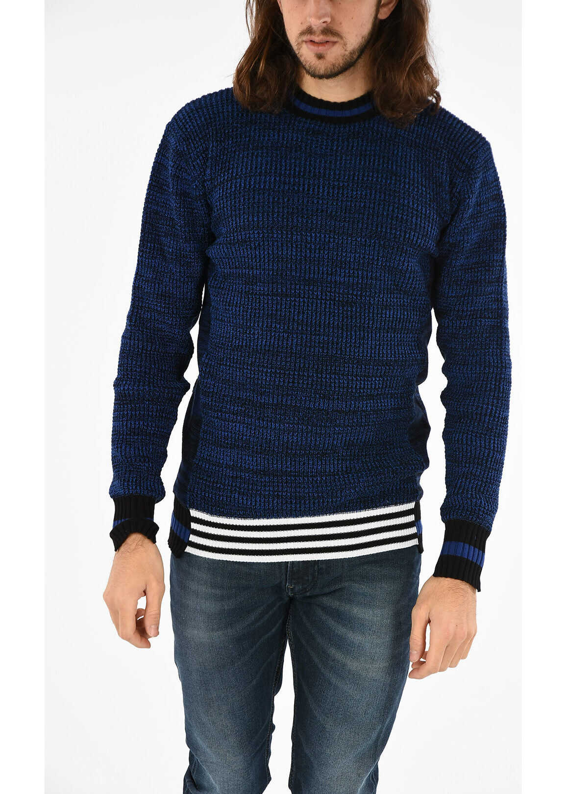 Diesel BLACK GOLD Cotton KOLLAY Pullover BLUE