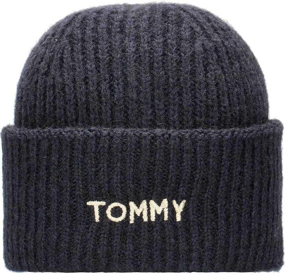 Tommy Hilfiger Effortless Beanie Granatowy